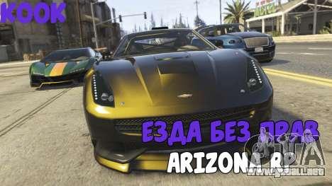 Conducir sin una licencia de ARIZONA RP para GTA San Andreas