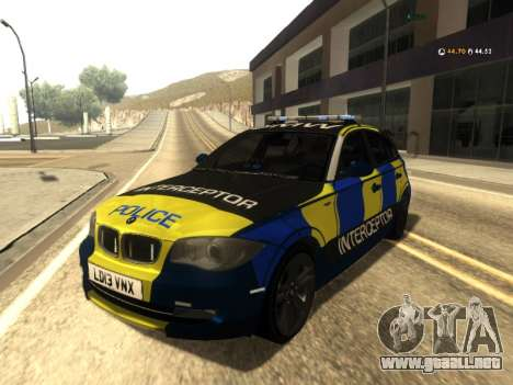BMW 120i SE UK Police ANPR Interceptor para GTA San Andreas