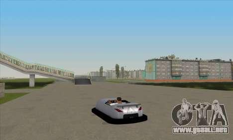 El coche por el circuito para GTA San Andreas left