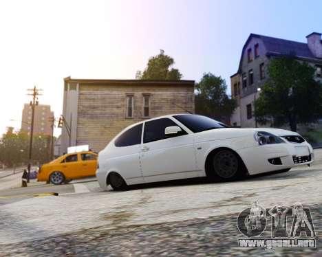 Lada Priora Coupe para GTA 4 Vista posterior izquierda