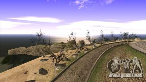 La construcción del puente, y el denso bosque para GTA San Andreas décimo de pantalla