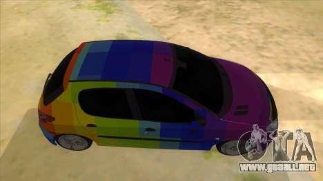 Iranian Peugeot 206 Sport para visión interna GTA San Andreas