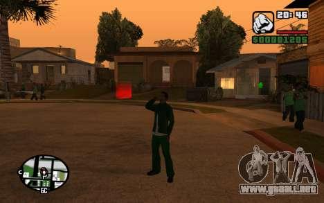 CJ Animation ped para GTA San Andreas sexta pantalla