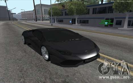 Lamborghini Huracan para la visión correcta GTA San Andreas
