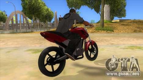 Honda Twister Stunt para la visión correcta GTA San Andreas