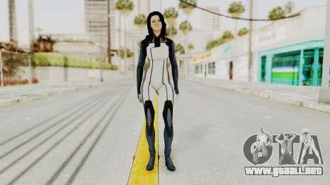 Mass Effect 3 Miranda in Evas Catsuit para GTA San Andreas segunda pantalla