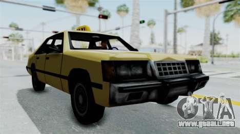 GTA Vice City - Taxi para GTA San Andreas vista posterior izquierda