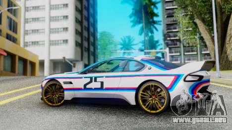 2015 BMW CSL 3.0 Hommage R para GTA San Andreas left
