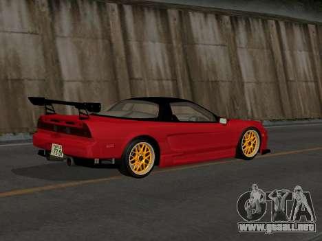 Honda NSX (NA1) Time Attack para GTA San Andreas vista posterior izquierda