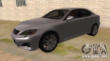 Lexus ISF para GTA San Andreas