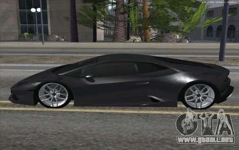 Lamborghini Huracan para GTA San Andreas left