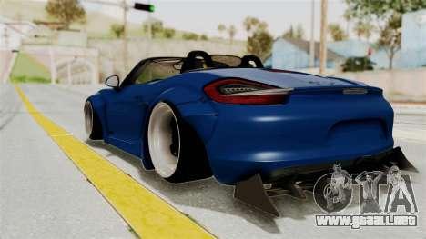 Porsche Boxster Liberty Walk para GTA San Andreas left