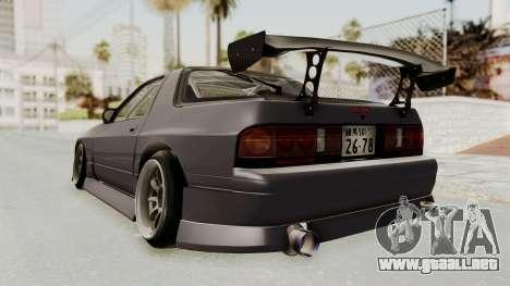 Mazda RX-7 1990 (FC3S) Cordelia Glauca Itasha para GTA San Andreas left