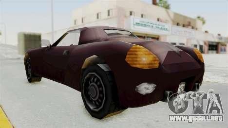 GTA 3 Stinger para GTA San Andreas vista posterior izquierda