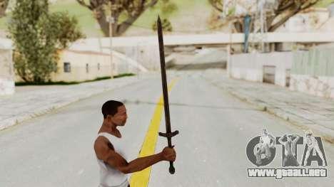 Skyrim Iron Sword para GTA San Andreas tercera pantalla