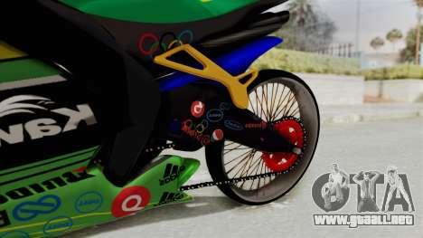 Kawasaki Ninja ZXRR56R para la visión correcta GTA San Andreas