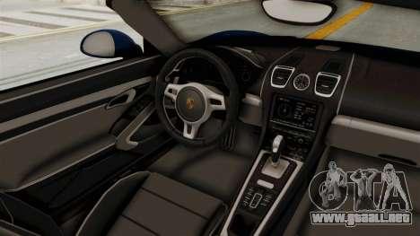 Porsche Boxster Liberty Walk para visión interna GTA San Andreas