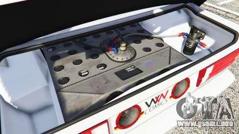 GTA 5 BMW M3 (E30) 1991 v1.3 delantero derecho vista lateral