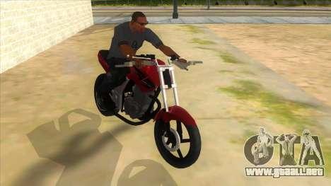 Honda Twister Stunt para GTA San Andreas vista hacia atrás