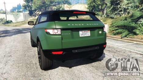 GTA 5 Range Rover Evoque v2.0 vista lateral izquierda trasera