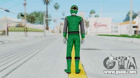 Power Rangers Ninja Storm - Green para GTA San Andreas tercera pantalla