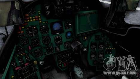 Mi-24V Soviet Air Force 14 para la visión correcta GTA San Andreas