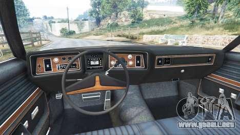 GTA 5 Oldsmobile Delta 88 1973 v2.0 vista lateral trasera derecha