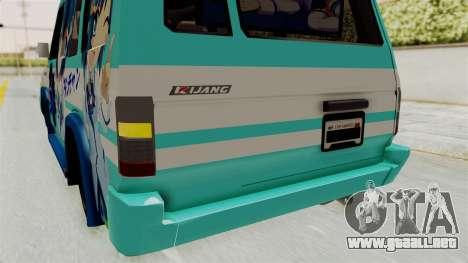 Toyota Kijang Grand Extra Itasha para vista inferior GTA San Andreas