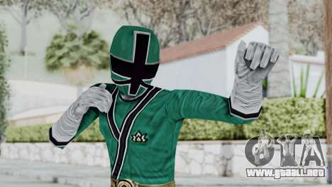 Power Rangers Samurai - Green para GTA San Andreas