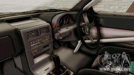 Mazda RX-7 1990 (FC3S) Cordelia Glauca Itasha para visión interna GTA San Andreas