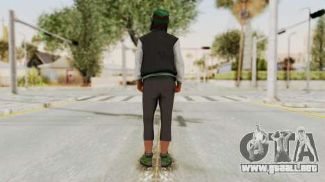 GTA 5 Families Gang Mamber 2 para GTA San Andreas tercera pantalla