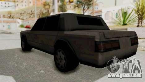 Greenwood from Manhunt para GTA San Andreas vista posterior izquierda