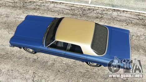GTA 5 Oldsmobile Delta 88 1973 v2.0 vista trasera