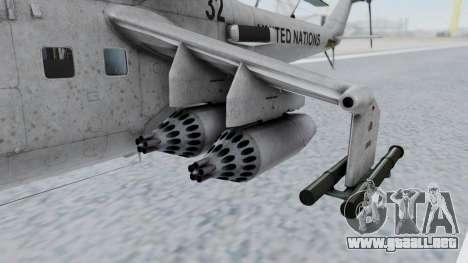 Mi-24V United Nations 032 para la visión correcta GTA San Andreas