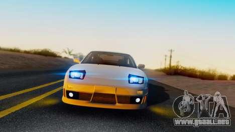 Nissan 180SX Type X para GTA San Andreas vista posterior izquierda