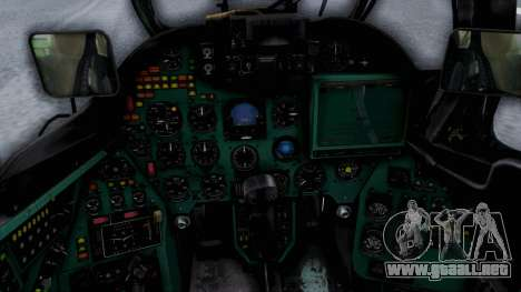 Mi-24V United Nations 032 para GTA San Andreas vista hacia atrás