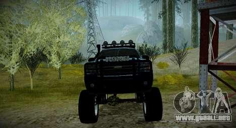 Chevrolet Tahoe LTZ 4x4 para visión interna GTA San Andreas