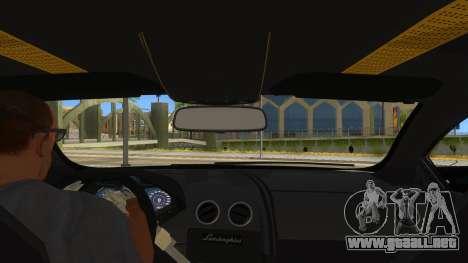 Lamborghini Reventon Monster Truck para visión interna GTA San Andreas