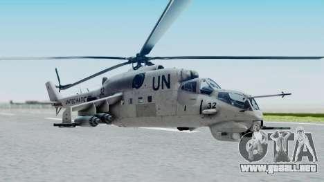 Mi-24V United Nations 032 para GTA San Andreas