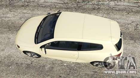 GTA 5 Volkswagen Scirocco R III Typ 13 2011 vista trasera