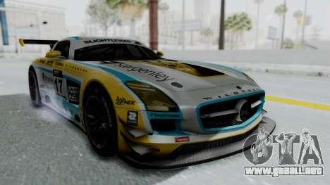 Mercedes-Benz SLS AMG GT3 PJ5 para GTA San Andreas vista hacia atrás