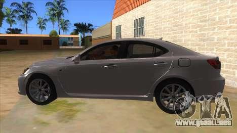 Lexus ISF para GTA San Andreas left
