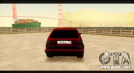 Volkswagen Golf GTI Mk2 para la visión correcta GTA San Andreas