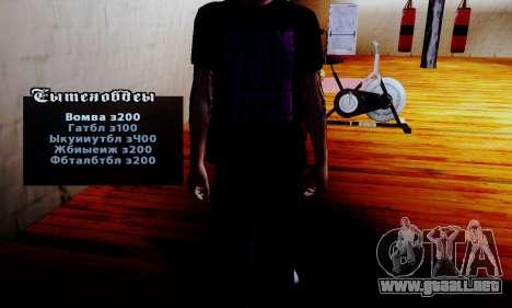 El vendedor de los esteroides en el gimnasio para GTA San Andreas segunda pantalla