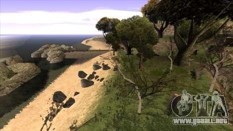 La construcción del puente, y el denso bosque para GTA San Andreas sexta pantalla