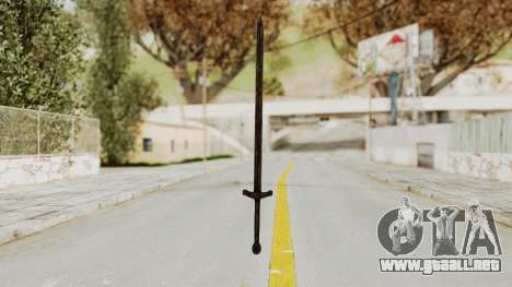 Skyrim Iron Sword para GTA San Andreas segunda pantalla