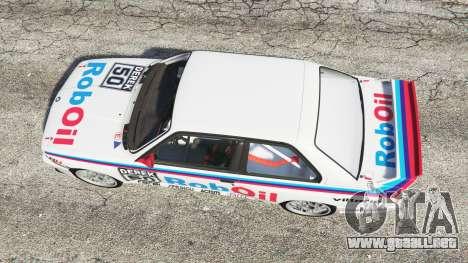 GTA 5 BMW M3 (E30) 1991 v1.3 vista trasera