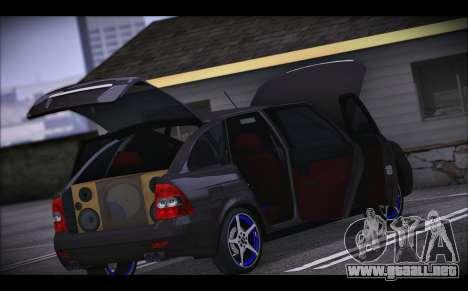 Lada Priora para vista inferior GTA San Andreas