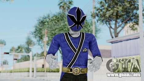 Power Rangers Samurai - Blue para GTA San Andreas
