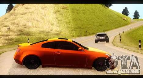 Infiniti G35 para GTA San Andreas left